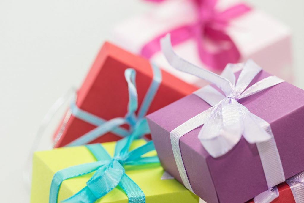 wrapped gifts box greeting