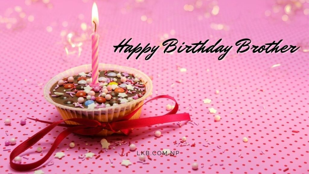 cup cake with candle greeting card brother birthday