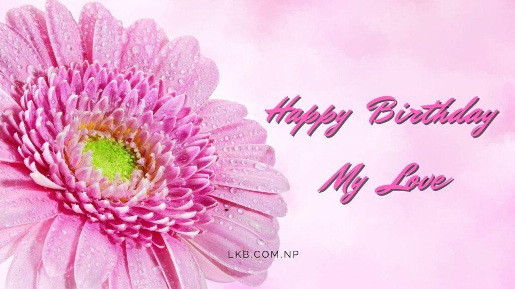 pink flower birthday love