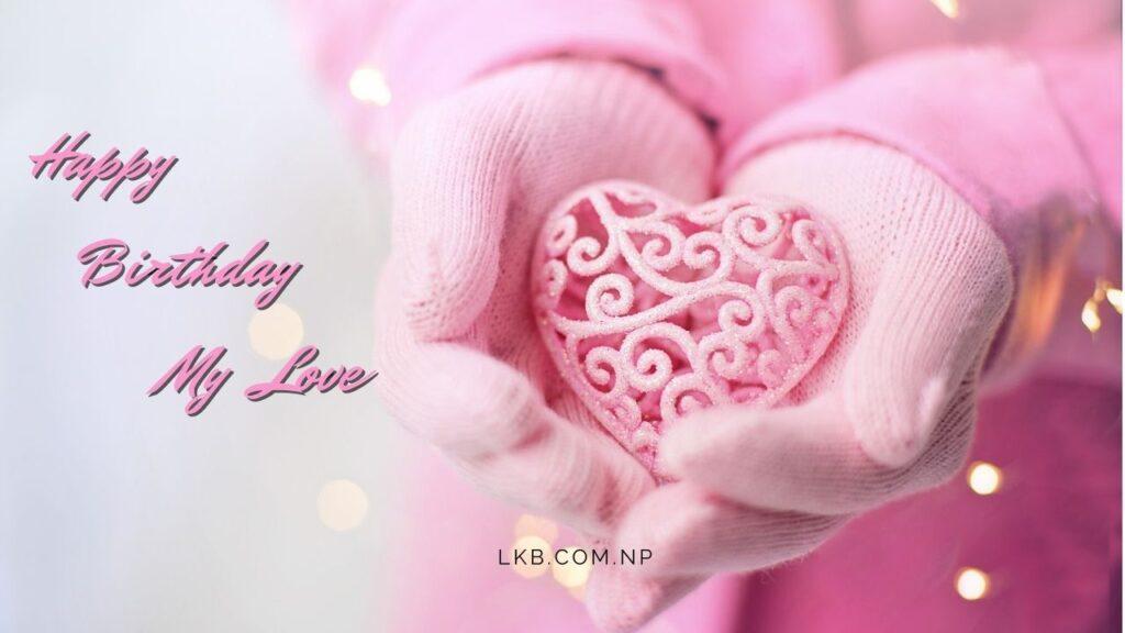 heart key on hand for birthday love
