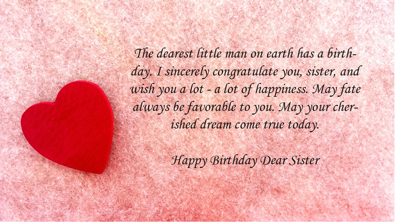 red heart birthday sister