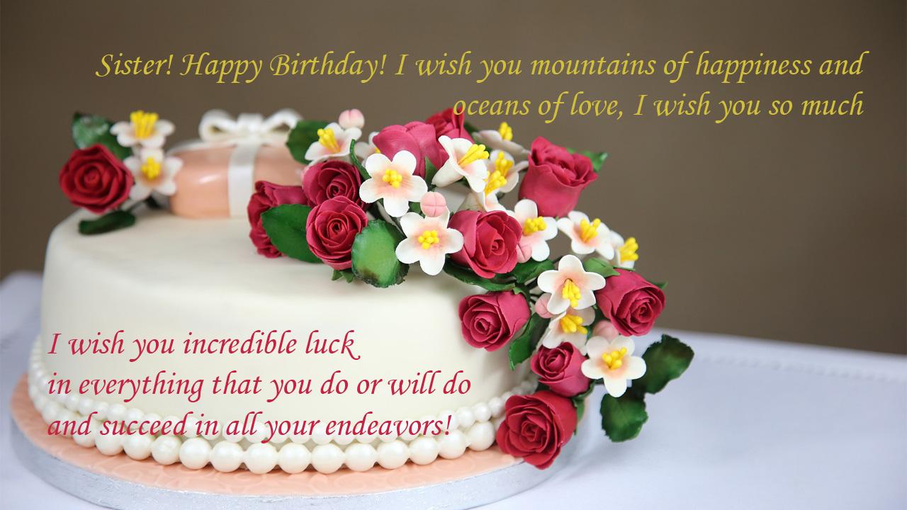 flower birthday cake birthday sis