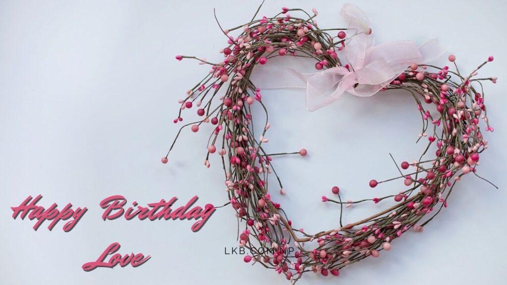 flower heart birthday love