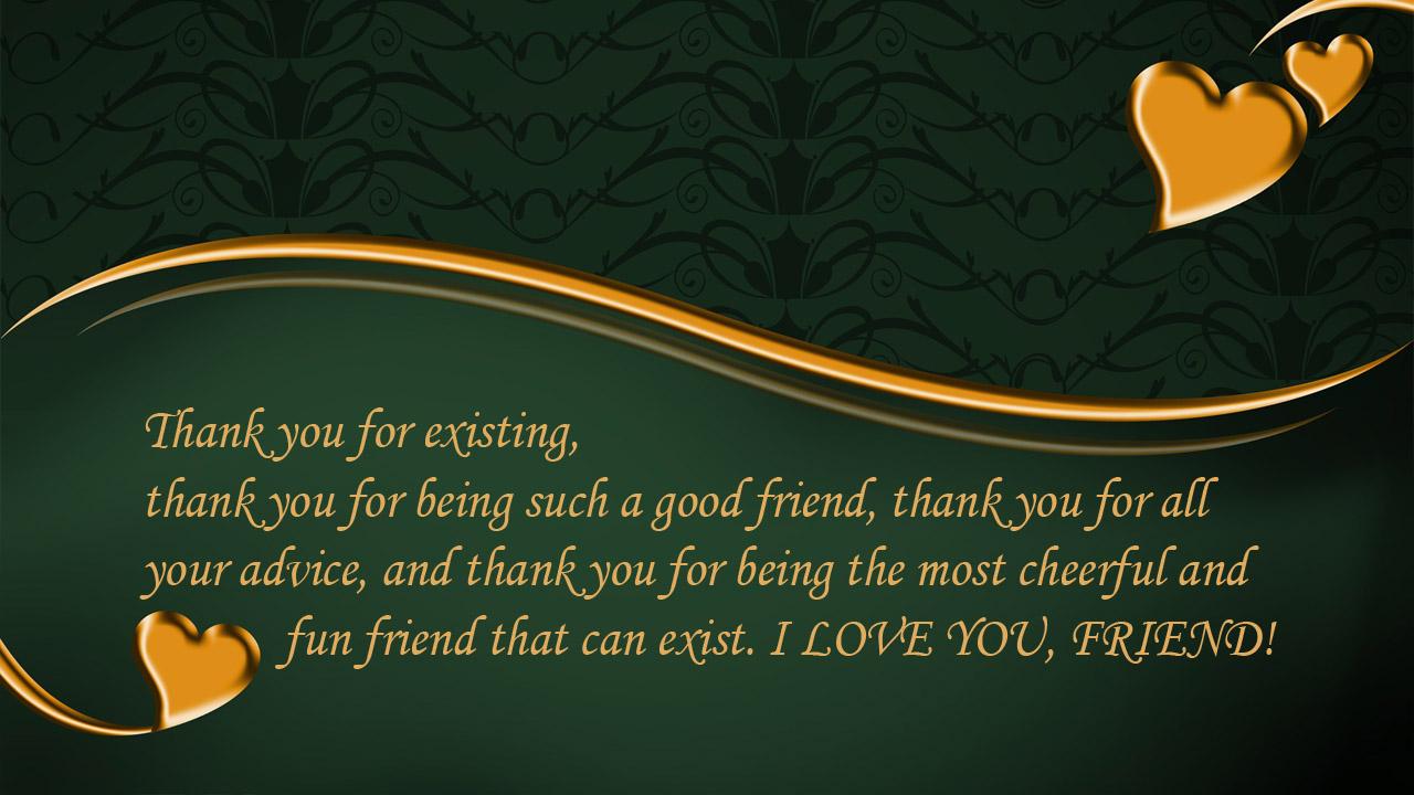 golden heart card friend birthday