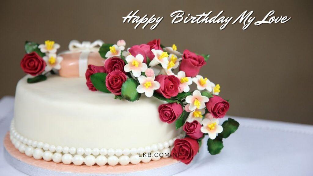 flower cake birthday love