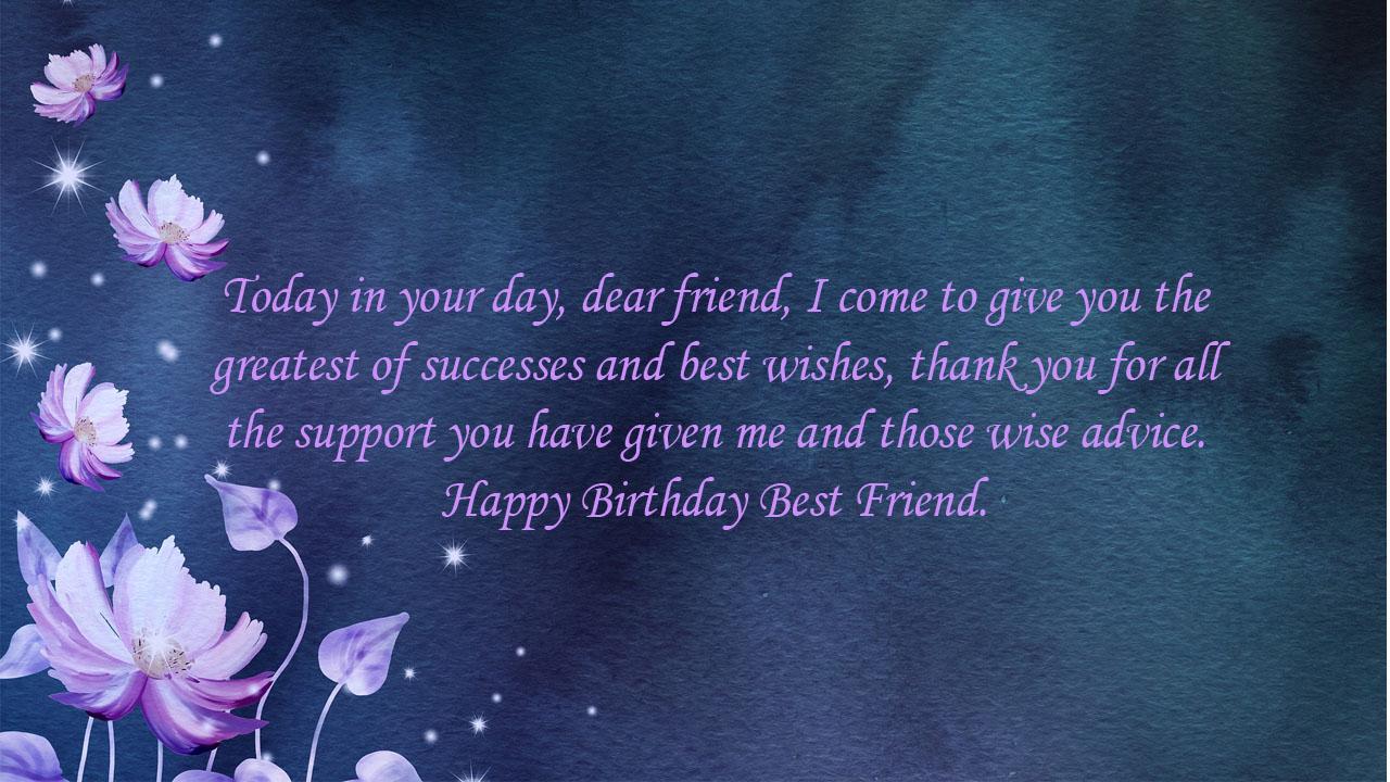 birthday quote flower friend