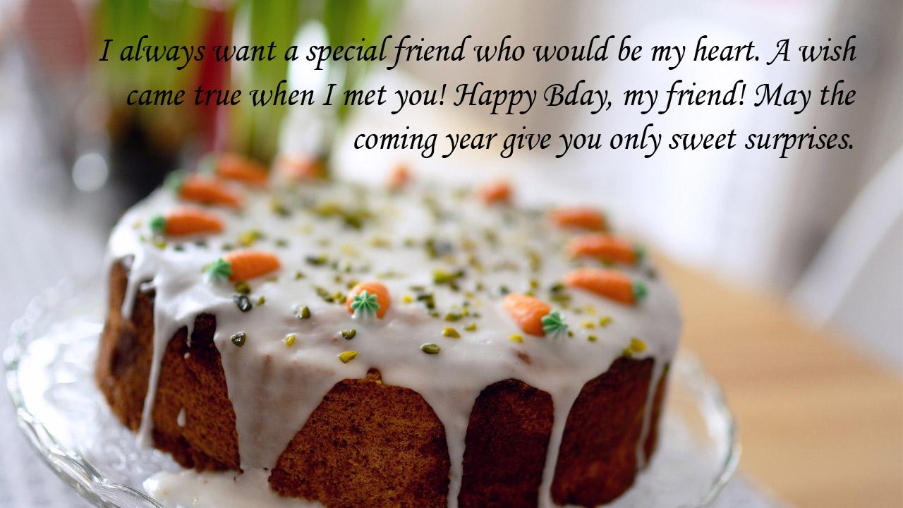 cake greeting birthday friend