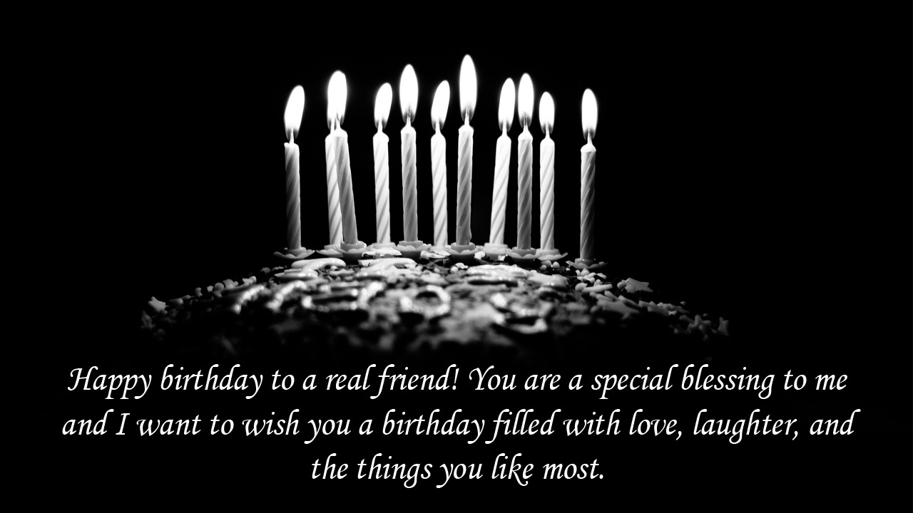 light candle friend birthday message
