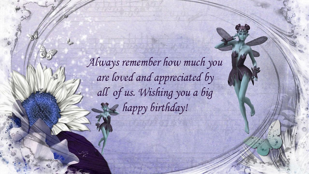 blue lady flower friend birthday
