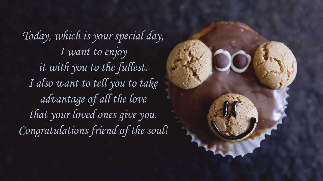 birthday wishes friend cake