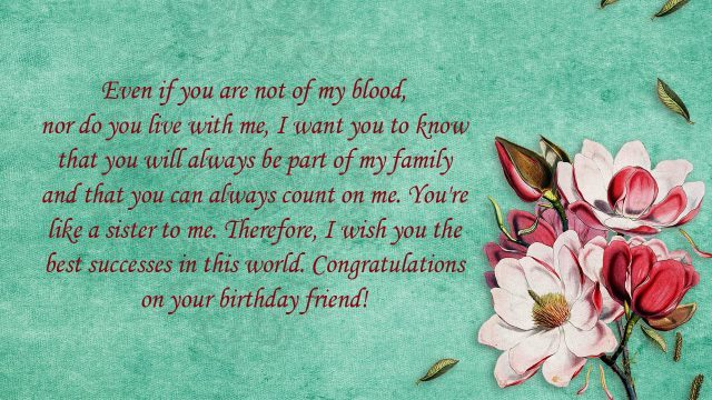 199 Beautiful | Touching Birthday Message to a Best Friend